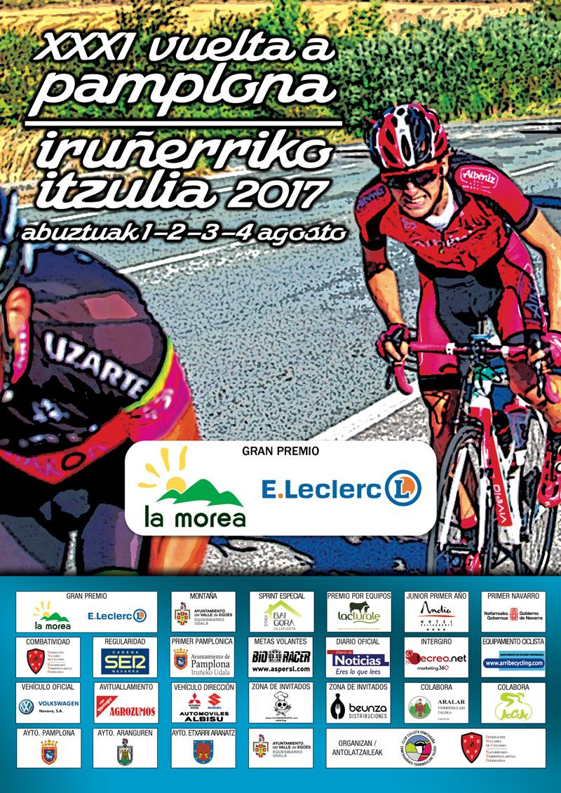 Cartel Vuelta a Pamplona 2017
